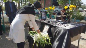 برگزاری آیین یادبود شهید مدافع سلامت (دکتر سید مهدی بهشتی شیرازی) در راور+تصاویر