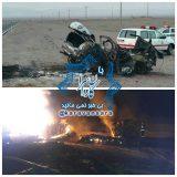 ۶ نفر در دو حادثه رانندگی در جاده راور-دیهوک در آتش بی توجهی مسئولین سوختند+جزئیات