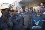 گزارش تصویری/حضور زاهدی در تونل استخراج معدن زغالسنگ همکار در عمق زمین و بررسی مشکلات کارگران (۱٧عکس)