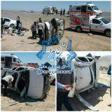 واژگونی خودروی سواری در جاده راور_دیهوک با ۴ مصدوم+تصاویر