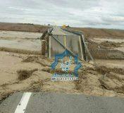 جزئیاتی از پل آسیب دیده کالیشور بر اثر سیل در جاده راور_دیهوک