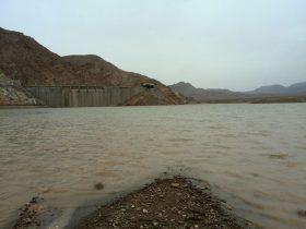 حجم آب جمع شده پشت سد قدرونی راور حدود یک میلیون متر مکعب است