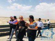 بازديد رئيس سازمان راهداري و حمل و نقل جاده اي كشور از محور سيل زده راور-ديهوک