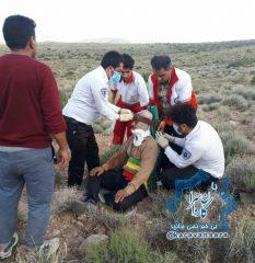 سقوط مرد ۵۷ ساله از کوه های روستای هروز بخش کوهساران راور+تصاویر