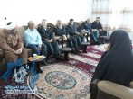 دیدار جانشین بازرسی کل ناجا با خانواده شهید در راور+تصاویر