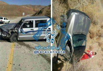 تصادف شدید در جاده راور_کرمان، پراید را دو نیم کرد +تصاویر(۱۰عکس)