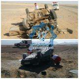 واژگونی دو خودروی سواری در جاده راور_دیهوک +تصاویر(۱۰عکس)