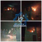 چهارشنبه سوری در راور، یک انبار را به آتش کشاند+تصاویر